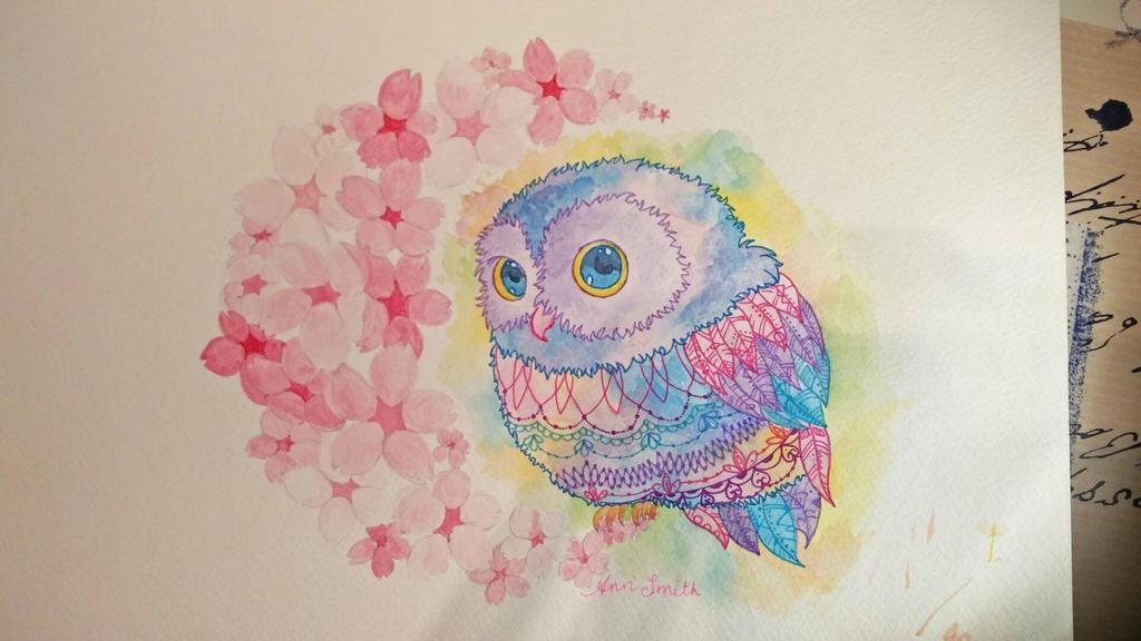 owl tattoo design by Toast2023