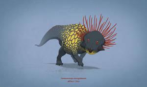 Dinovember #13 - Yamaceratops dorngobiensis by AntoninJury