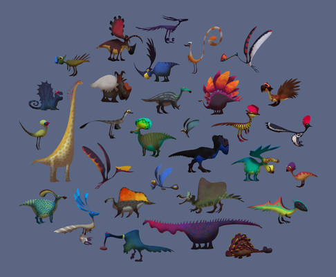 Dinos Shapes and Colors...