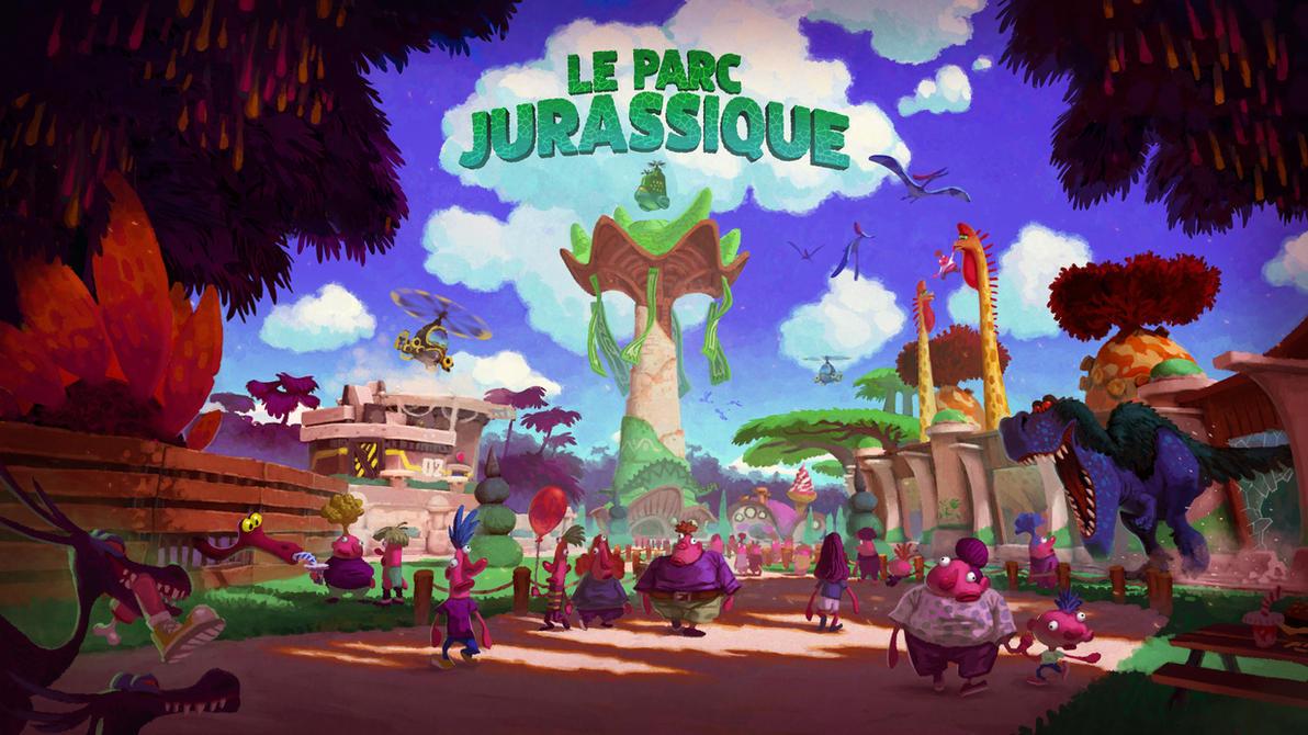 Le Parc Jurassique - Concept Art by AntoninJury