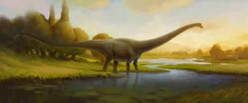 Peaceful Jurassic Sunset