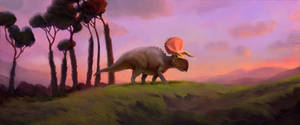 Nasutoceratops Evening...