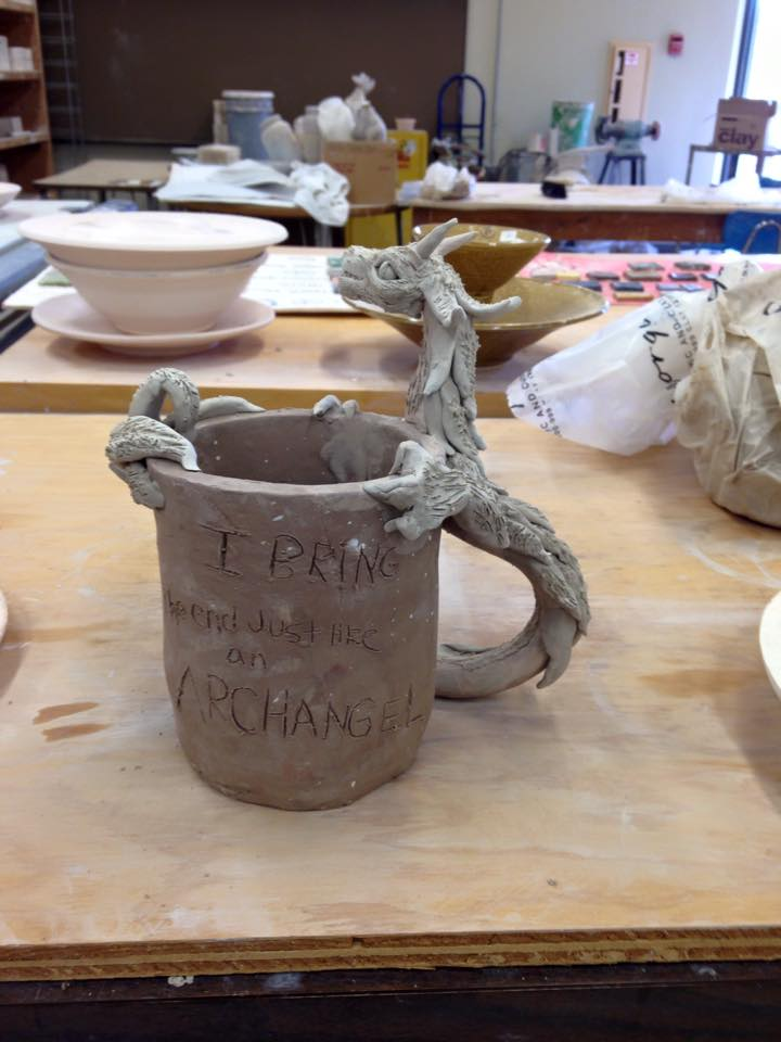 Ceramics Project - Archangel The Dragon by UmbreonDelilah
