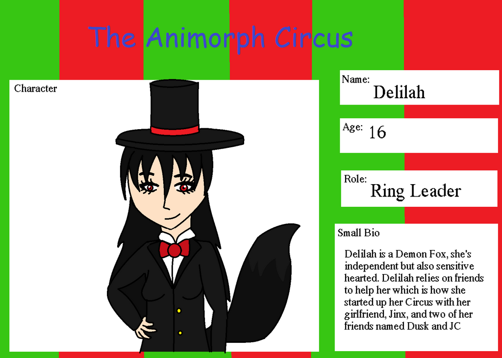 The Animorph Circus - Delilah Submission by UmbreonDelilah