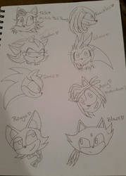 Some Sonic Character Genderswapped