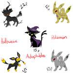 Halloween Pokemon Adoptables