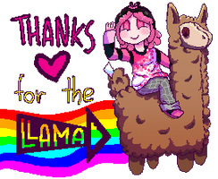 Pixel Art Llama by sisimonsterpink