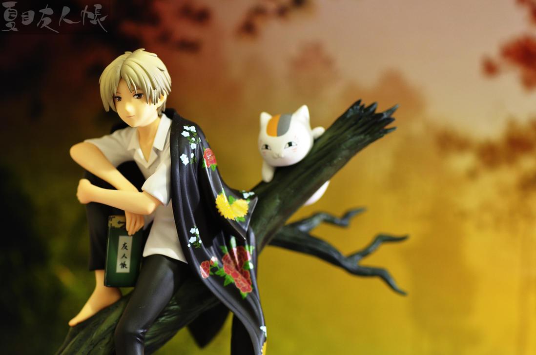 Natsume and Nyanko-sensei by shigeru-chan