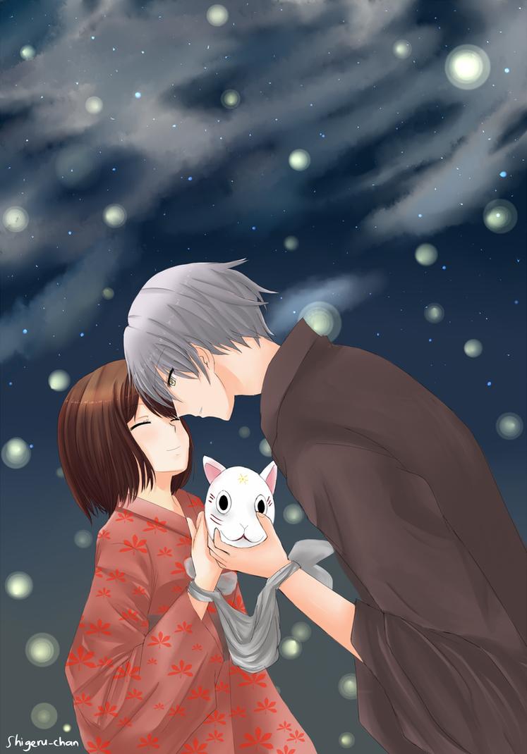 Hotarubi no Mori e: Gin x Hotaru by shigeru-chan