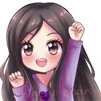 Commission MochiMio twitch icon 1 by shigeru-chan