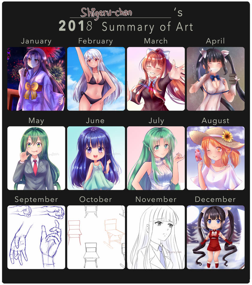 2018 Summary of Art by shigeru-chan
