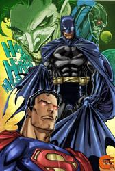 Superman - Batman - Joker - Darkseid by criv215