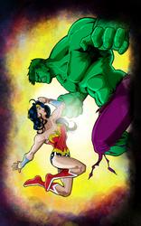 Wonder Woman V Hulk by criv215