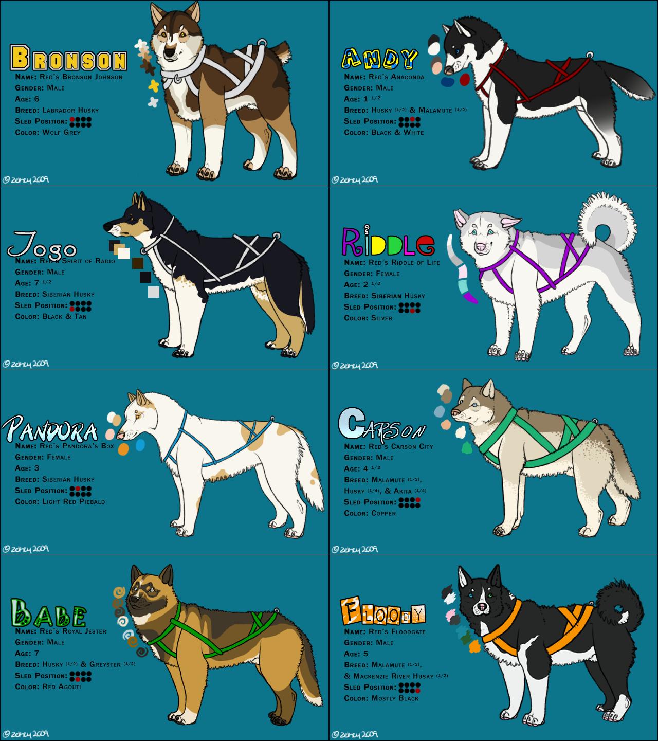 .Sled Dogs - Ref. by ZekeStar on DeviantArt