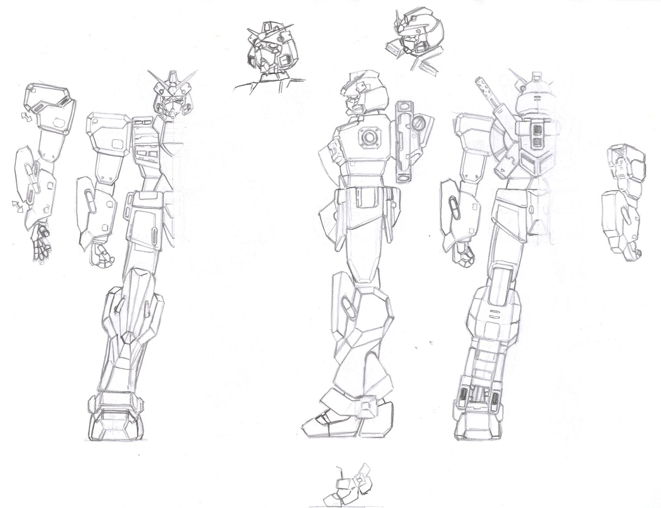 kansei gundam blueprints by rom