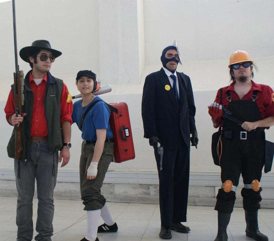Team Fortress 2 cosplay by Rom-Stol