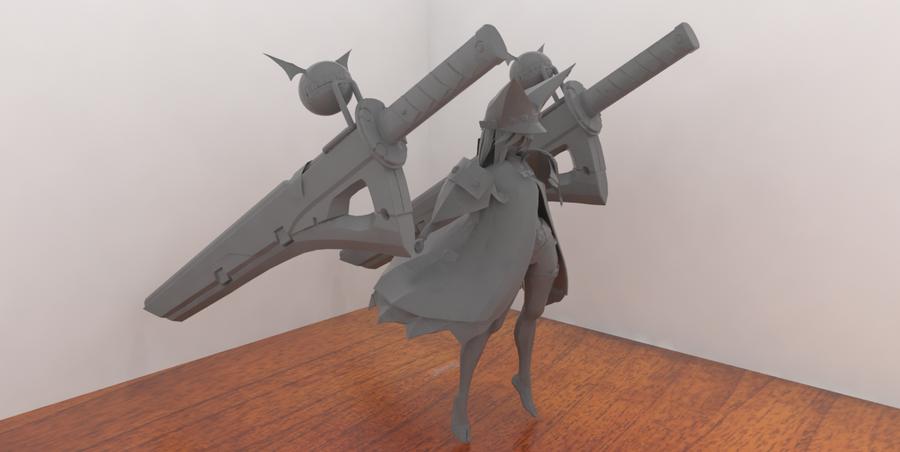 Ramlethal digital figure by Rom-Stol