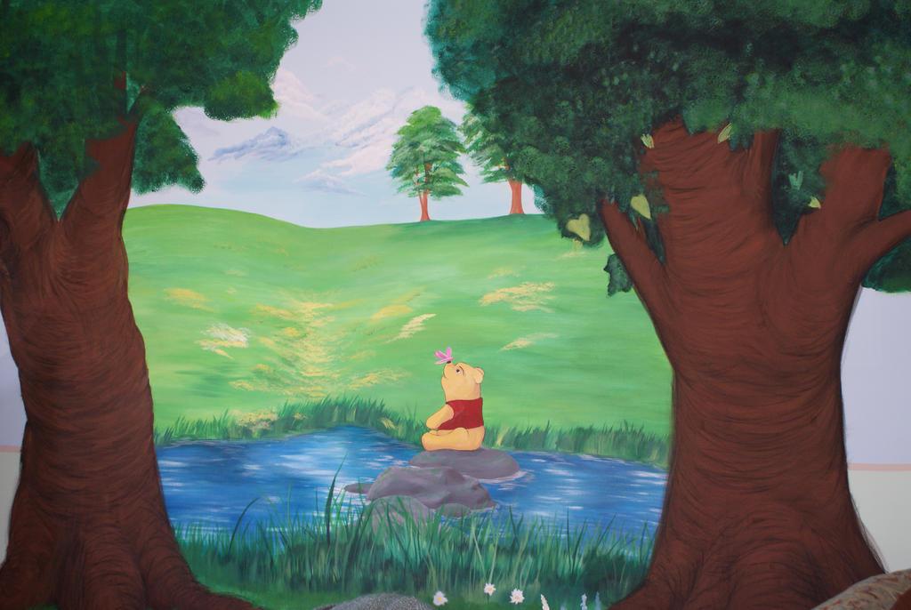 Hundred Acre Wood Mural by art-dani-06