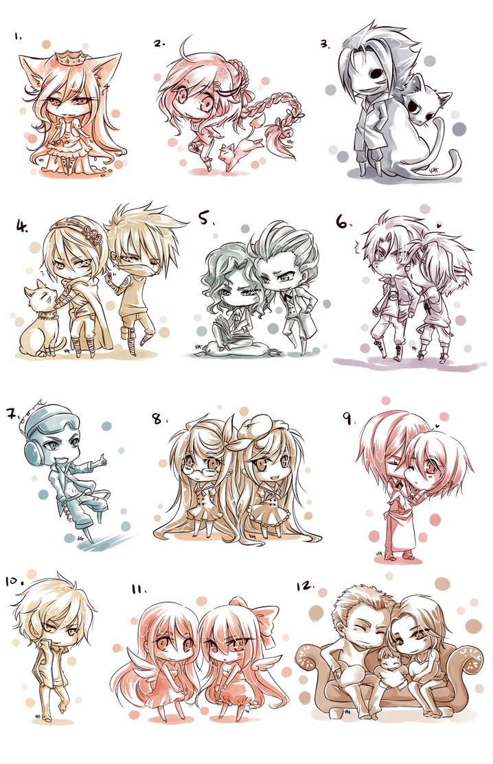Sketchy Chibi COM Batch by hitogata