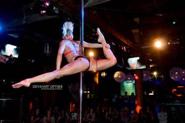 Amazing Pole Stunts by HallowedCarnality