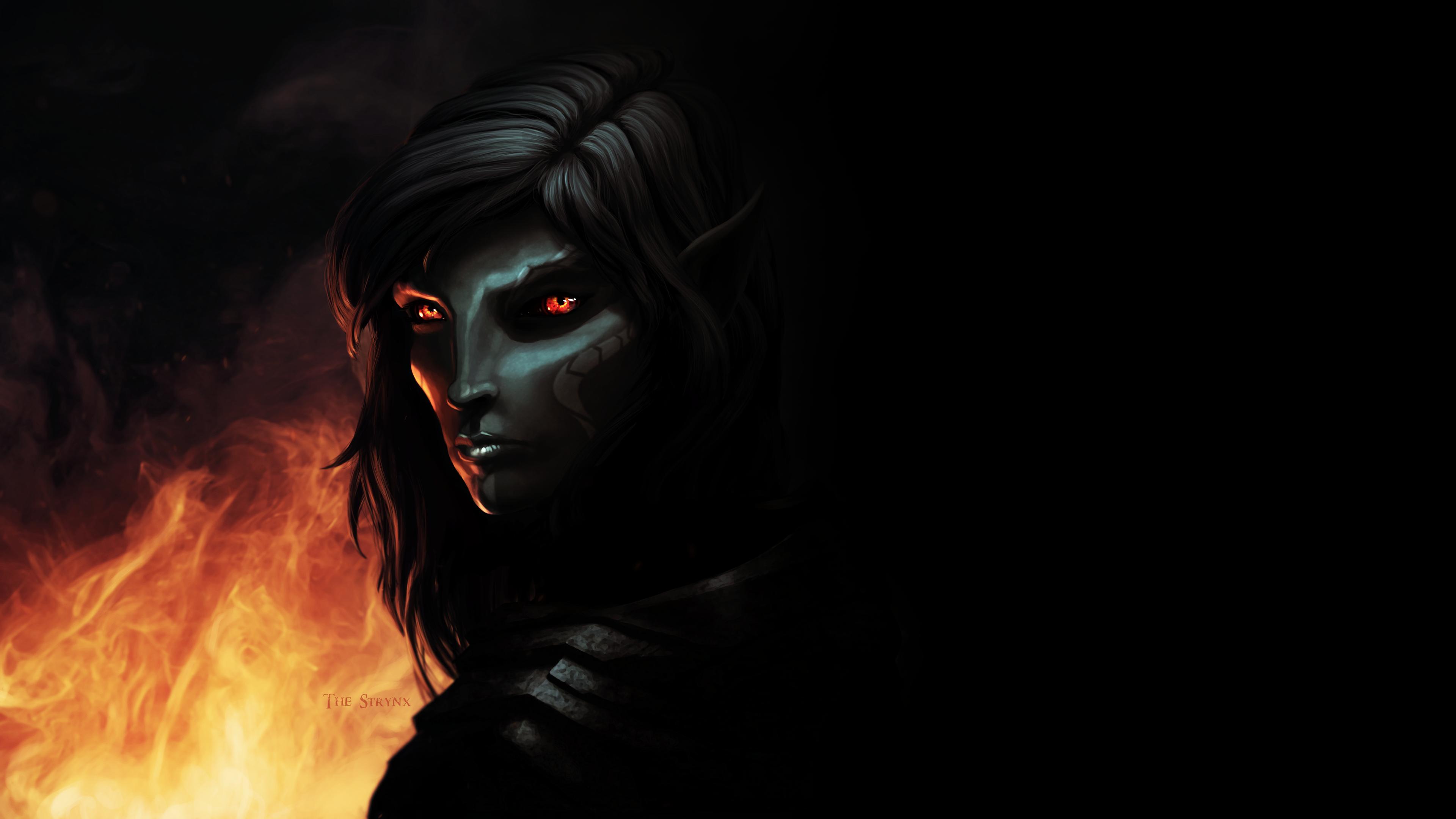 Skyrim Dark Elf Vampire by The-Strynx on DeviantArt