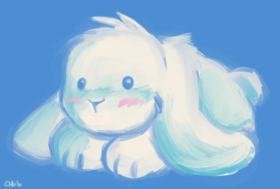 Paint Blue Bunny by raizy