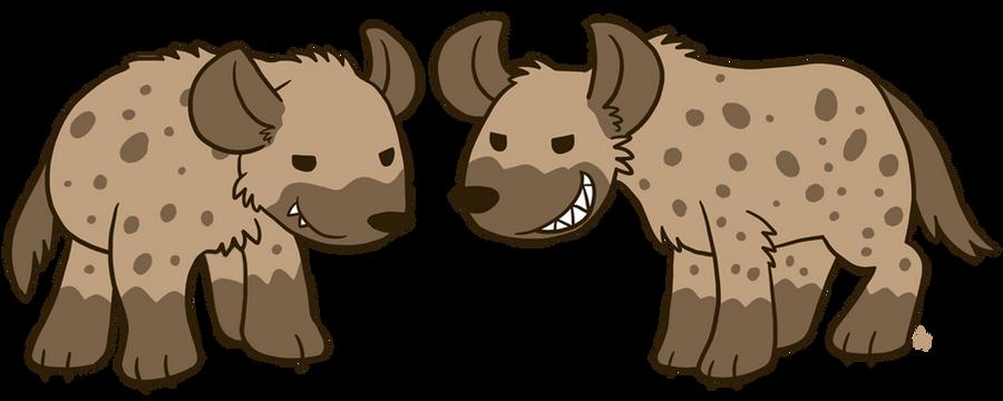 Goofy Spotted Hyenas by raizy