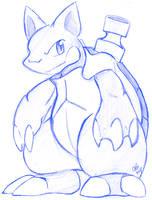 Blastoise Sketch by raizy