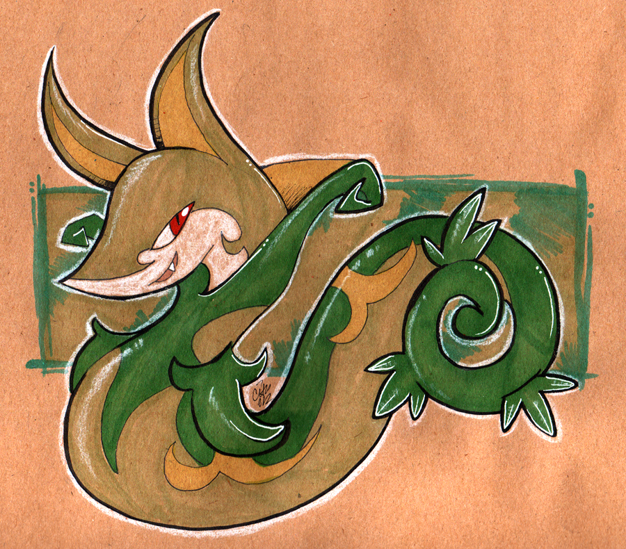 Krafty Serperior by raizy