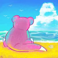 Slowpoke and the Sea by raizy