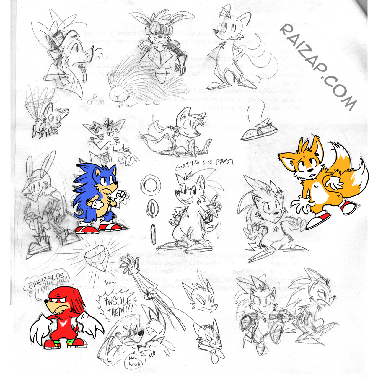 Sonic Redux Doodles by raizy