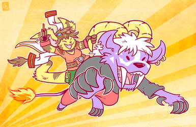 Commission - Yu-Gi-Rhea! by raizy