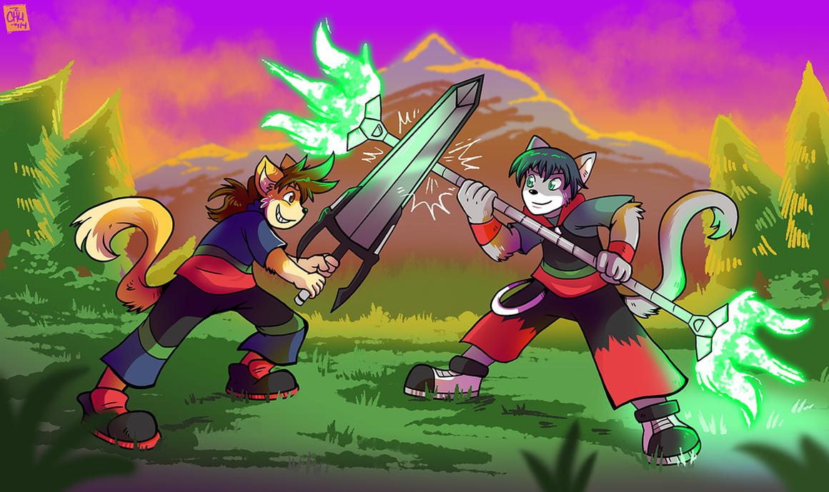 Commission - Hiro VS Xeol by raizy