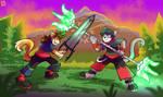 Commission - Hiro VS Xeol