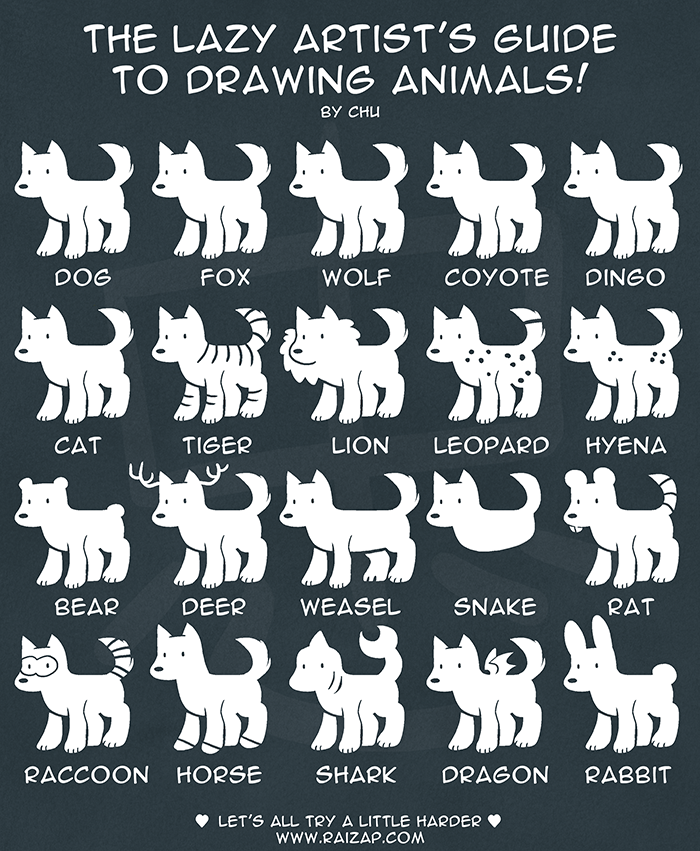 The Lazy Artist's Guide to Drawing Animals
