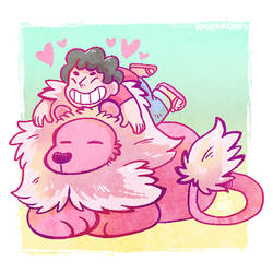 Cutie Steven And Lion by raizy