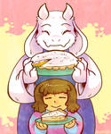 Toriel and Butterscotch-cinnamon Pie