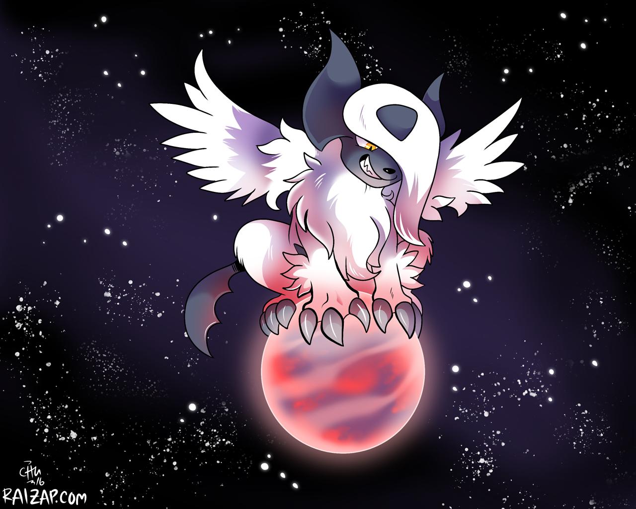 Planet sized mega absol by raizy on deviantart - Pokemon mega absol ...