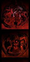 Triptych of Sadness by raizy