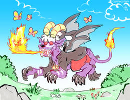 Frolicking and Firebreathing by raizy