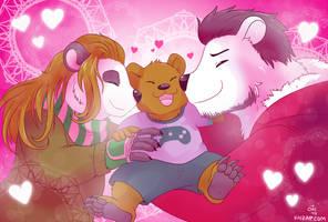 [Commission] Happy Bear Family by raizy