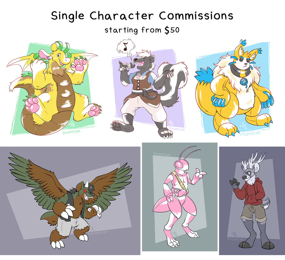October 2018 Commissions Open by raizy