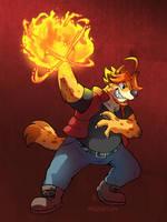 [Commission] Jaryl Fireball by raizy