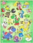 2018-11-15 Mario Character Doodles