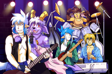 Slightly Damned Rock Band by raizy