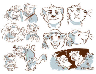 Bandits of Bluefort doodles by raizy