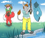 [Commission] Pantsed at the Pond