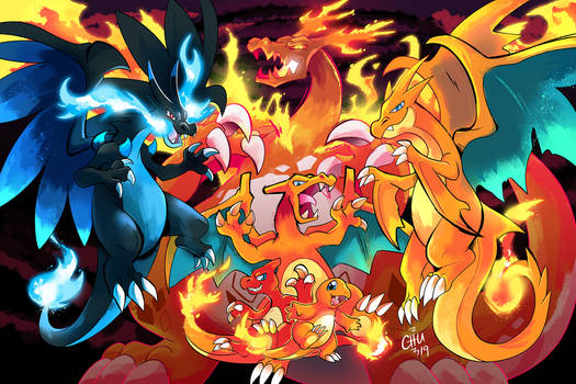 Charizard Family Poster
