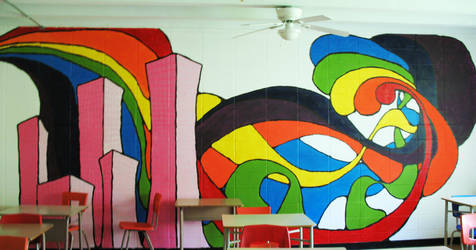 Wall painting 47 by Jellyka