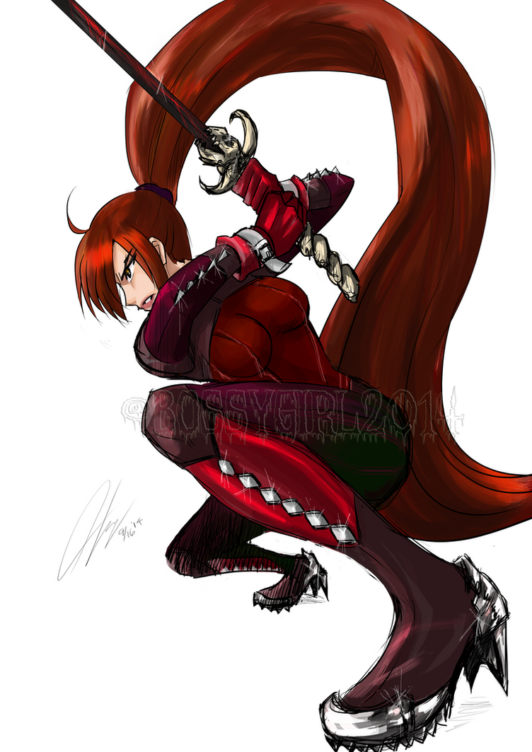 Monster girl Hunter B by BossyGirl